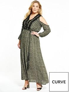 elvi-diamond-print-maxi-dress-khaki