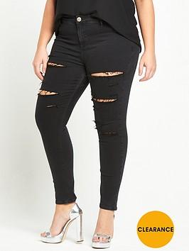 ri-plus-molly-ripped-jeans-black