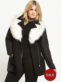 ri-plus-padded-faux-fur-collar-coat-black