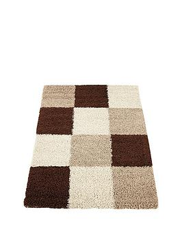 Very Milan Shaggy Squares Rug Picture