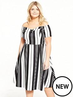 lovedrobe-monochrome-stripenbspbardot-dress