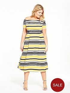 lovedrobe-stripe-bardot-skater-dress
