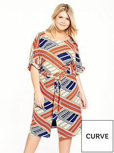 lovedrobe-printed-tie-waist-wiggle-dress