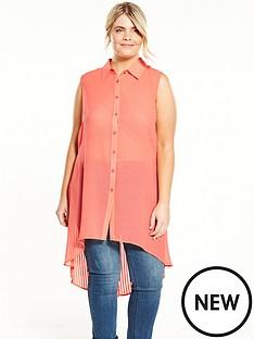 lovedrobe-sleeveless-textured-pleat-back-shirt