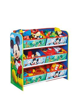 Mickey Mouse Mickey Mouse 6 Bin Storage Unit By Hello Home