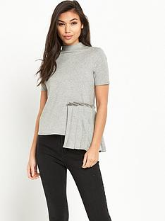 lost-ink-pleat-panel-t-shirt-grey-marl