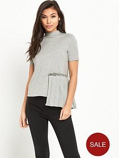 lost-ink-pleat-panel-t-shirt-grey-marl