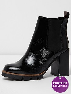 river-island-river-island-lace-up-cleated-sole-heeled-boot
