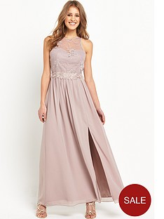 little-mistress-lace-overlay-maxi-with-split-mink