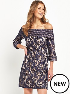 little-mistress-bardot-lace-shift-dress-navy