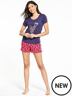 v-by-very-pina-colada-short-pyjama-set