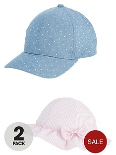 v-by-very-girls-2-pack-cap-and-sunhat-4-7-years