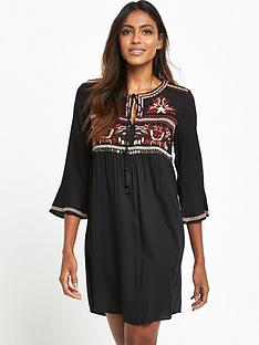 river-island-embroidered-smock-dress-black