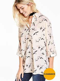 v-by-very-bird-printed-oversized-blouse