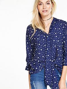 v-by-very-star-print-cape-blouse