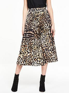 V By Very Animal Pleat Skirt
