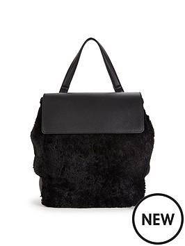 warehouse-shearling-rucksack-black