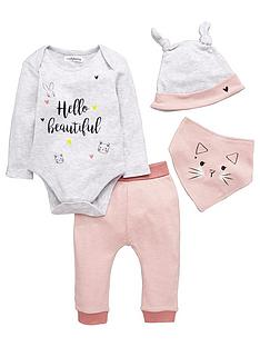 ladybird-baby-girls-kitten-and-bunny-layette-set-4-piece