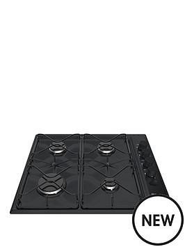 hotpoint-pas642hbk-58cm-wide-built-in-gas-hob-black