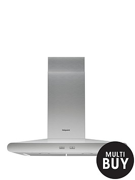 hotpoint-phc77flbix-70cm-chimney-hood-stainless-steel