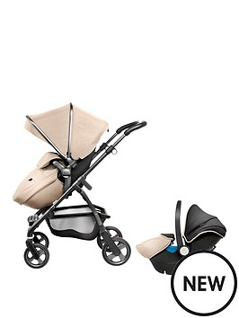 silver-cross-wayfarer-graphite-pushchair-hood-amp-apron-and-car-seat-package-sand