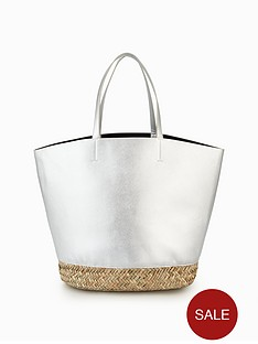 v-by-very-metallic-bucket-beach-bag-silver