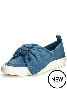 kg-lust-denim-bow-plimsoll
