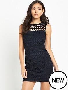 ax-paris-crotchet-front-mini-dress-black