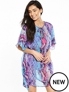 v-by-very-printed-tie-neck-kaftan