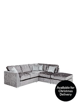 ideal-home-shimmer-right-hand-corner-chaise-sofa-with-footstool