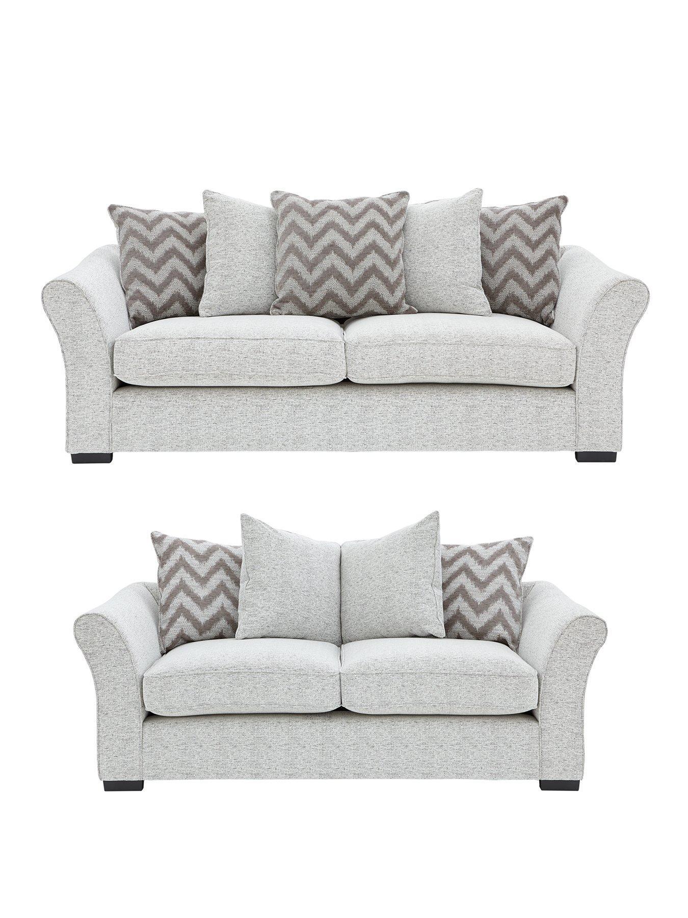 cavendish chevron 3seater 2seater fabric sofa set buy and save
