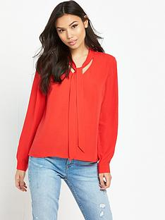 vero-moda-caro-bow-blouse-red
