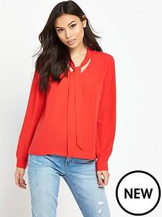 vero-moda-caro-bow-blouse-red