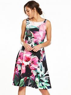 coast-coast-flamenco-scuba-fit-amp-flare-dress