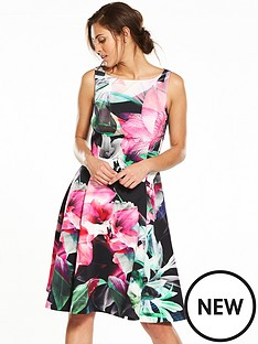 coast-coast-flamenco-scuba-fit-amp-flare-dress