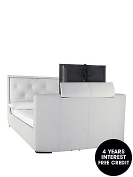 estates-faux-leather-tv-bed-frame-with-mattress-options-buy-and-save