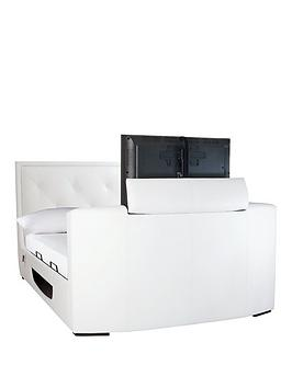 estates-faux-leather-lift-up-storage-tv-bed-frame-with-mattress-options-buy-and-save