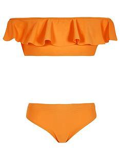 river-island-orange-bardot-frill-bikini-outfit