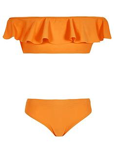 river-island-orange-bardot-frill-bikini-set