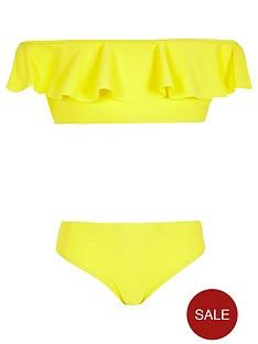 river-island-girls-frill-bardot-bikini-yellow