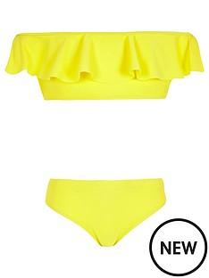 river-island-girls-yellow-frill-bardot-bikini