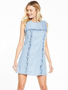 v-by-very-ruffle-denim-shift-dress