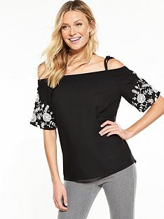v-by-very-embroidered-bardot-top