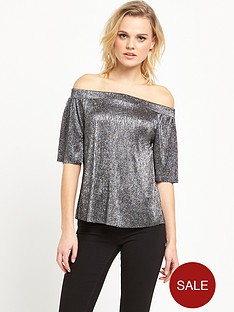 river-island-metallic-bardot-top-silver