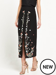 river-island-embroidered-pencil-midi-skirt-black