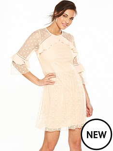 v-by-very-spot-mesh-dress
