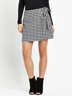 fashion-union-gisele-gingham-skirt-black
