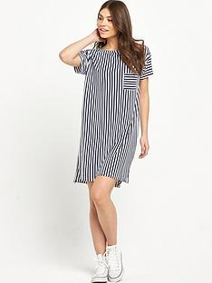 replay-stripe-oversized-pocket-t-shirt-dress