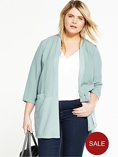lost-ink-curve-curve-soft-jacket-with-woven-hem-green