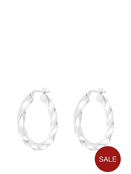 the-love-silver-collection-sterling-silver-30mm-twisted-hoop-earring